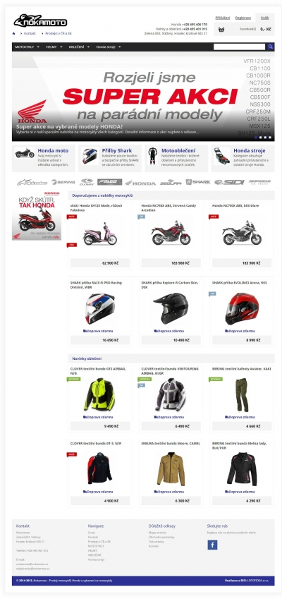 Nokamoto - prodej motocyklů a příslušenství