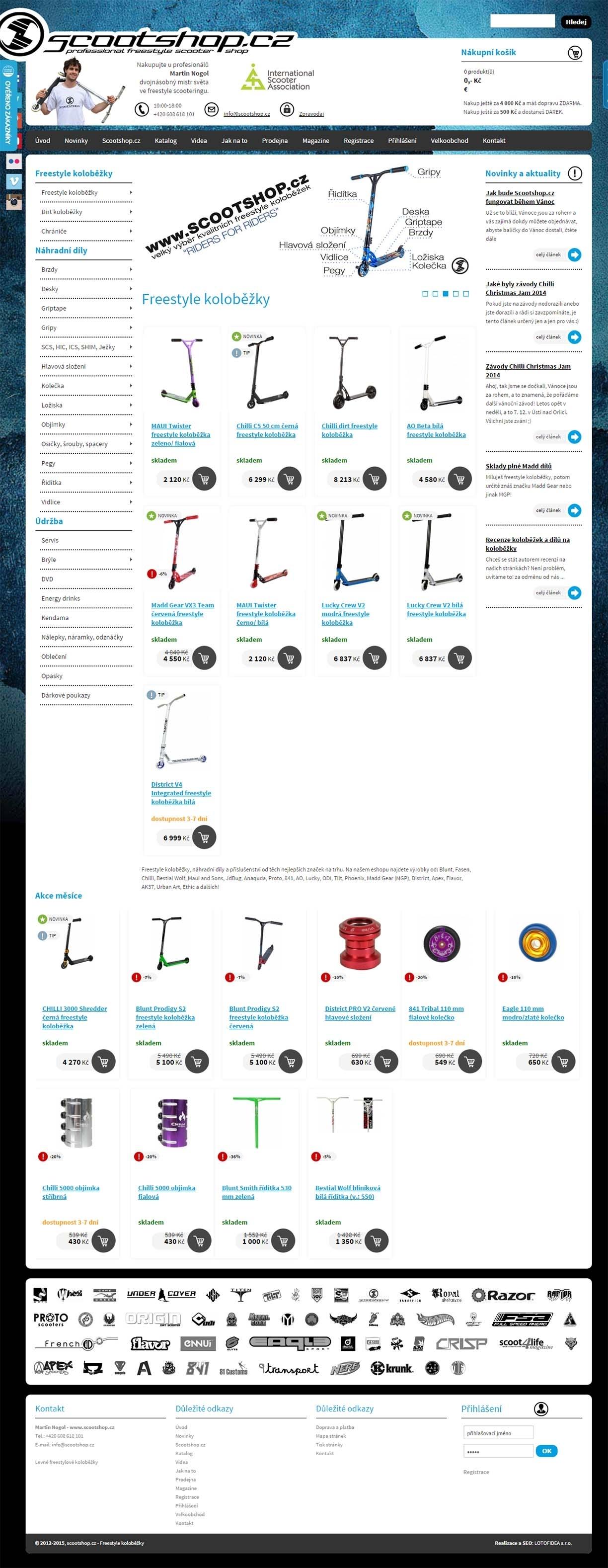 Scootshop.cz - Freestyle koloběžky